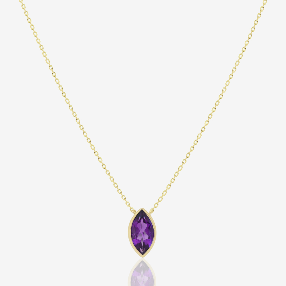 Marquise Necklace in Amethyst