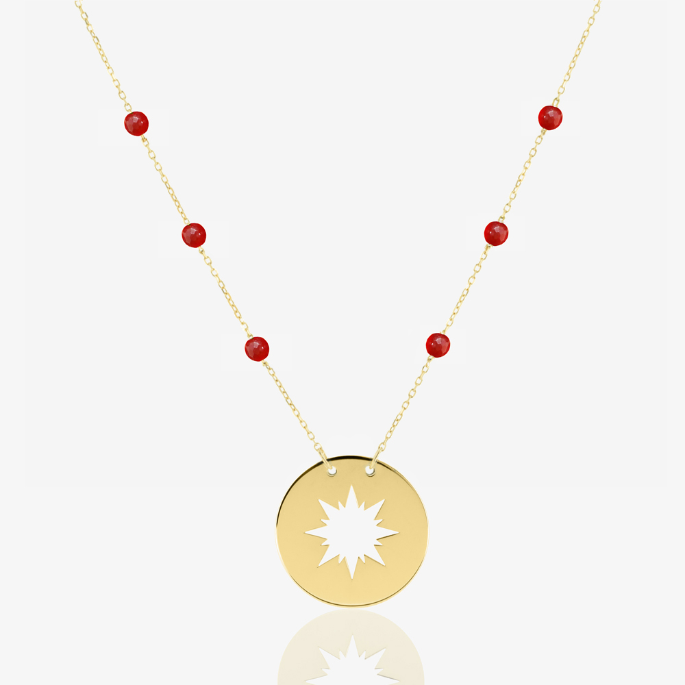 Sunshine Necklace in Red Carnelian