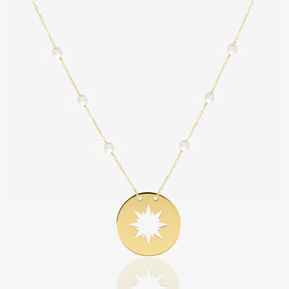 Sunshine Necklace in Freshwater Pearl