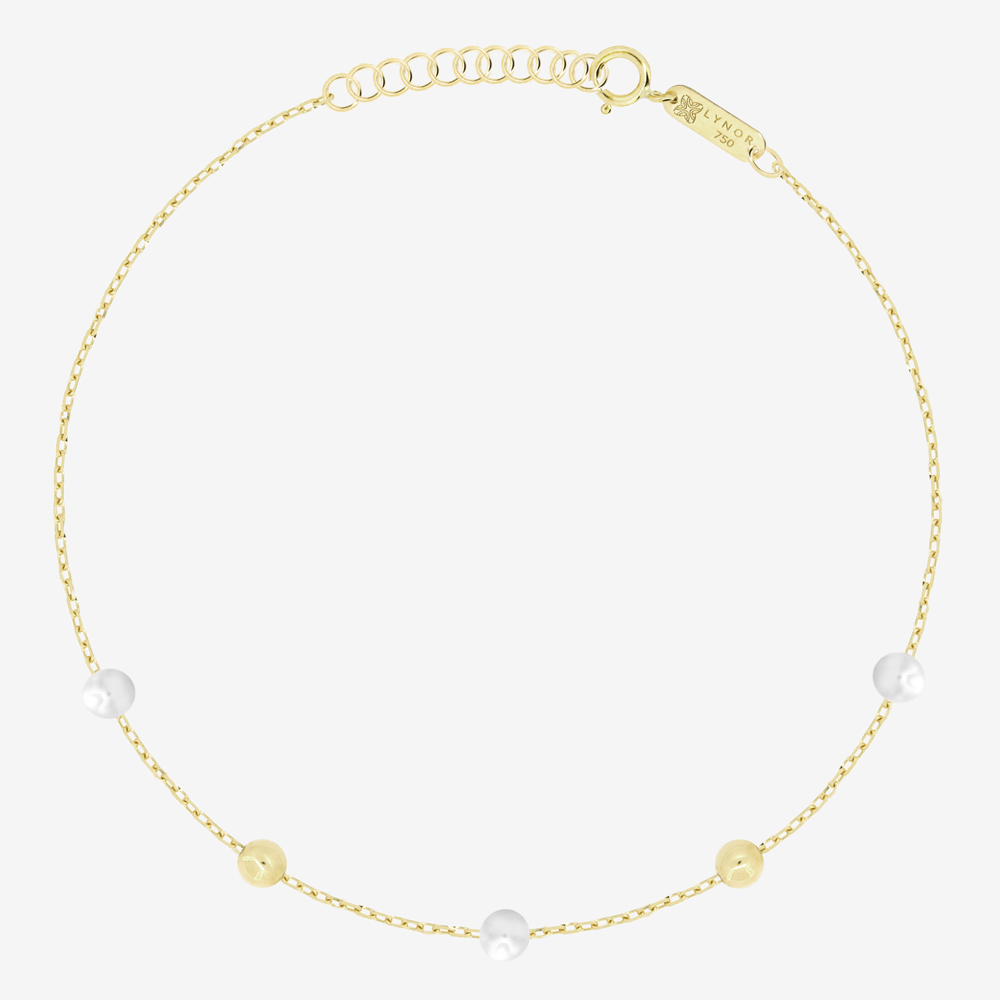 Margo Pearl and Gold Beads Bracelet