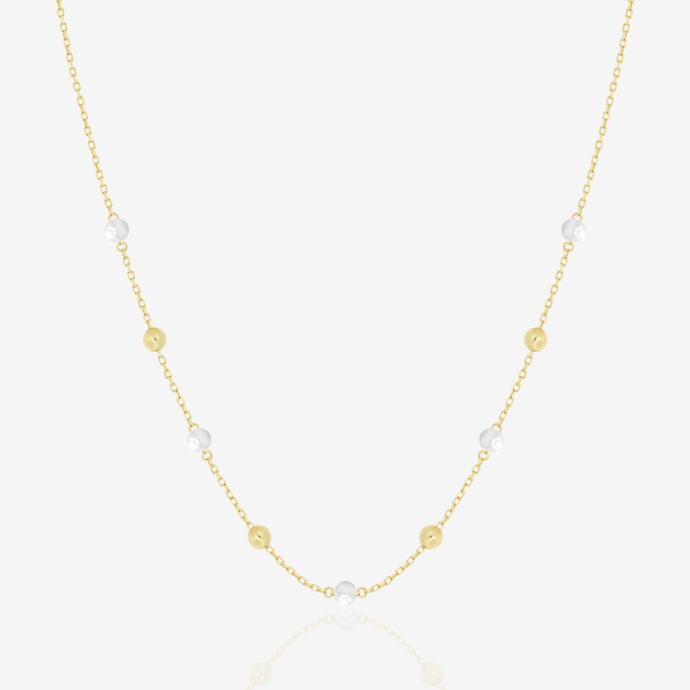 Margo Pearl and Gold Beads Necklace