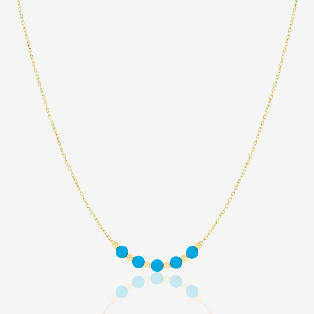 Myra Necklace in Turquoise Beads