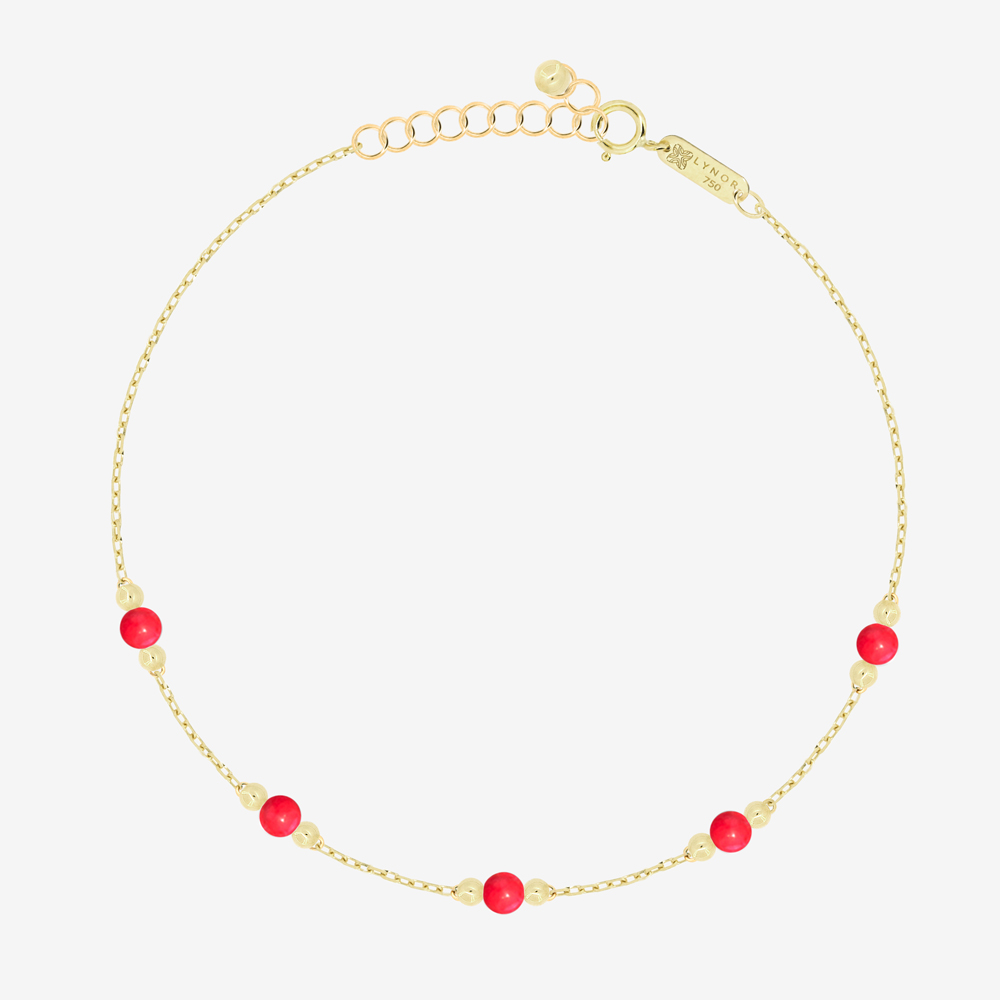 Cherry Bracelet in Red Coral