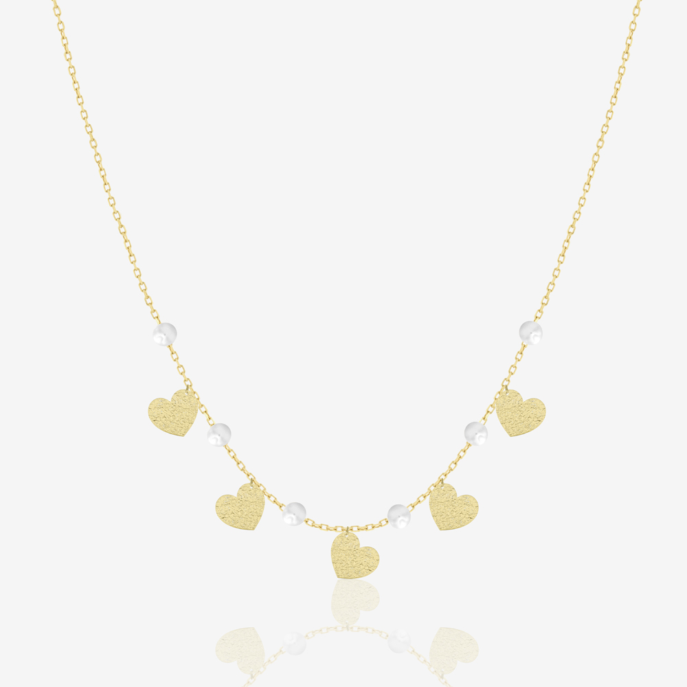 Glittering Hearts Necklace