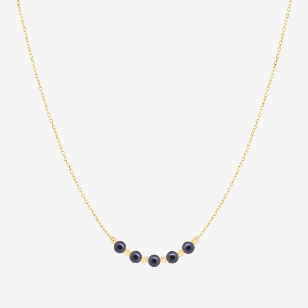 Myra Necklace in Black Pearl