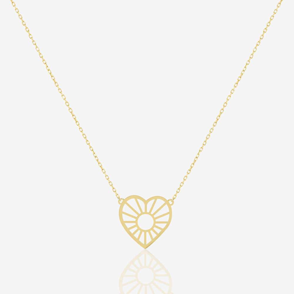 Gleaming Heart Necklace