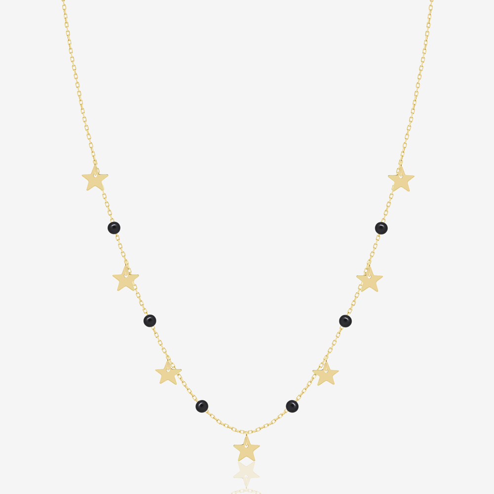 Stars Necklace in Black Pearl