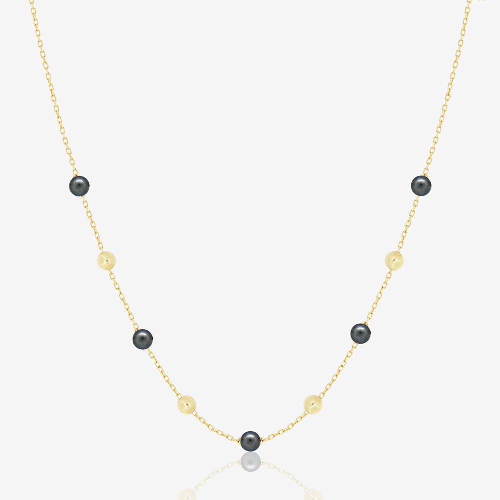 Margo Necklace in Black Pearl