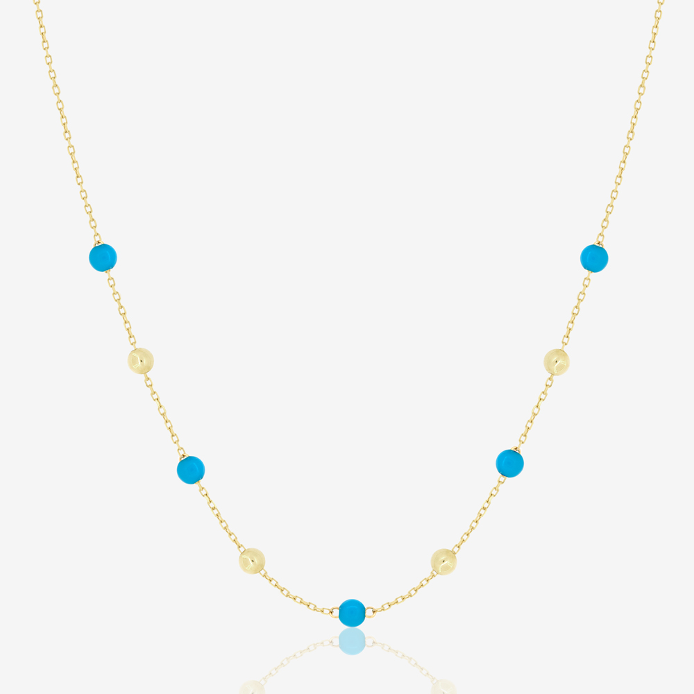 Margo Necklace in Turquoise Beads