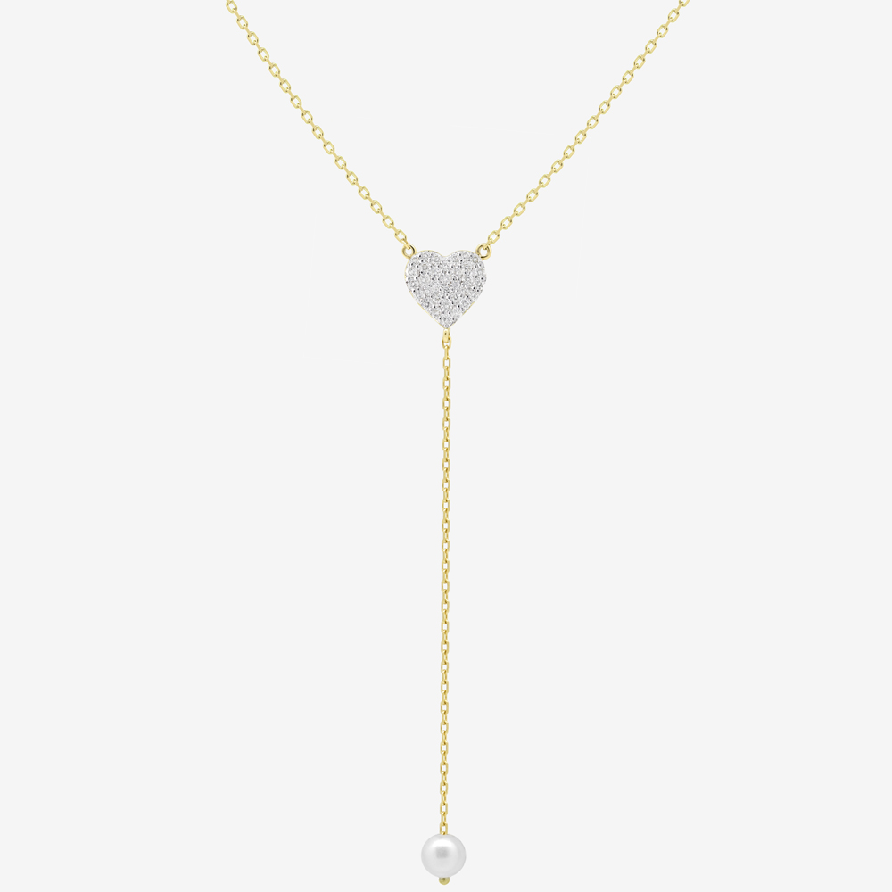 Cora Necklace in Diamond and Pearl