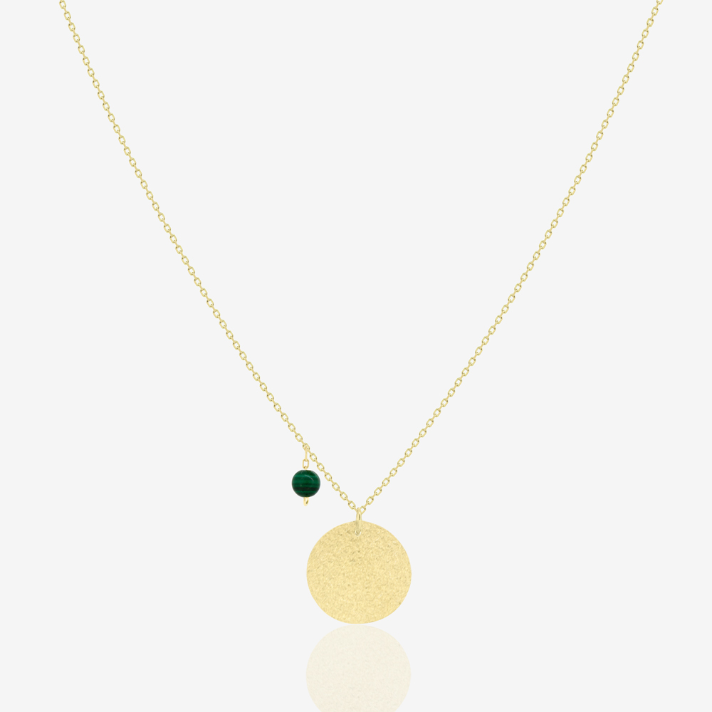 Verda Coin Necklace in Green Malachite