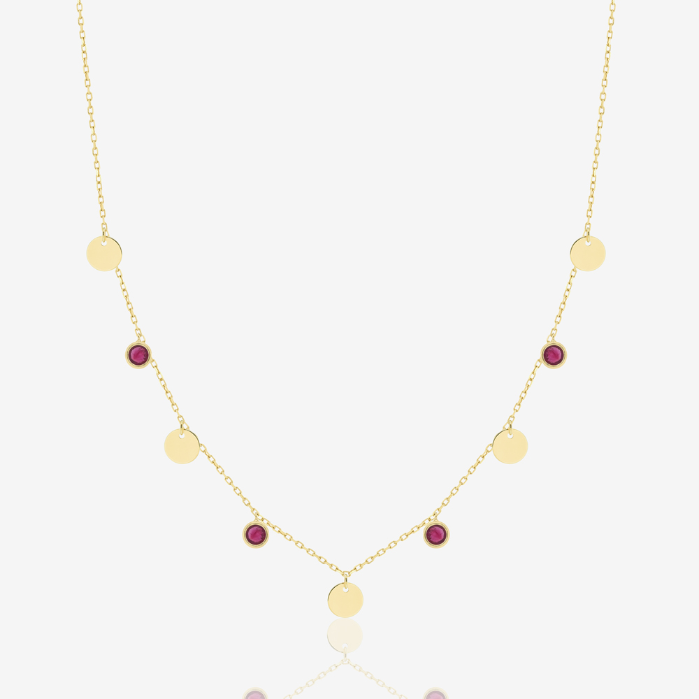Oria Necklace in Ruby