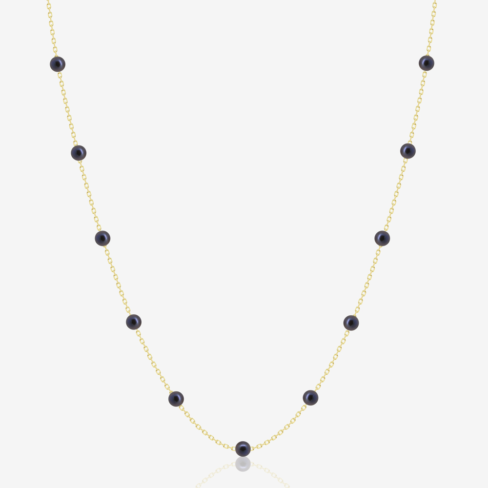 Dotted Black Pearl Necklace