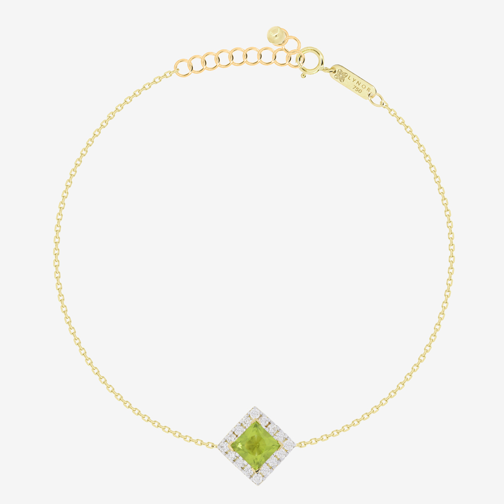 Roda Bracelet in Diamond and Peridot