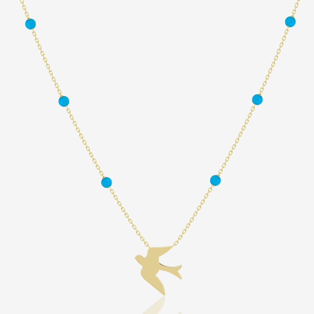 Bird Necklace in Turquoise