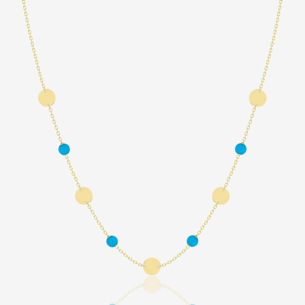 Daria Necklace in Turquoise