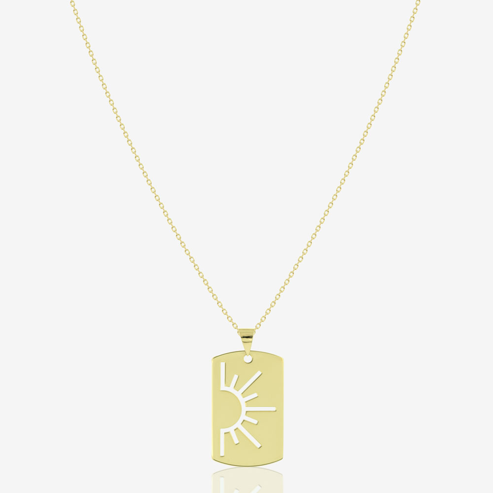 My Sunshine Tag Necklace